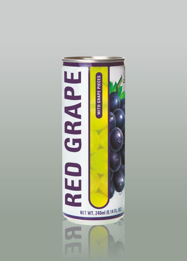 Натурален сок кен червено грозде делос