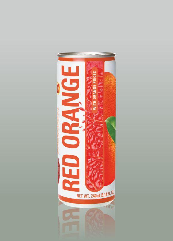 Натурален сок кен червен портокал делос, dellos bulgaria